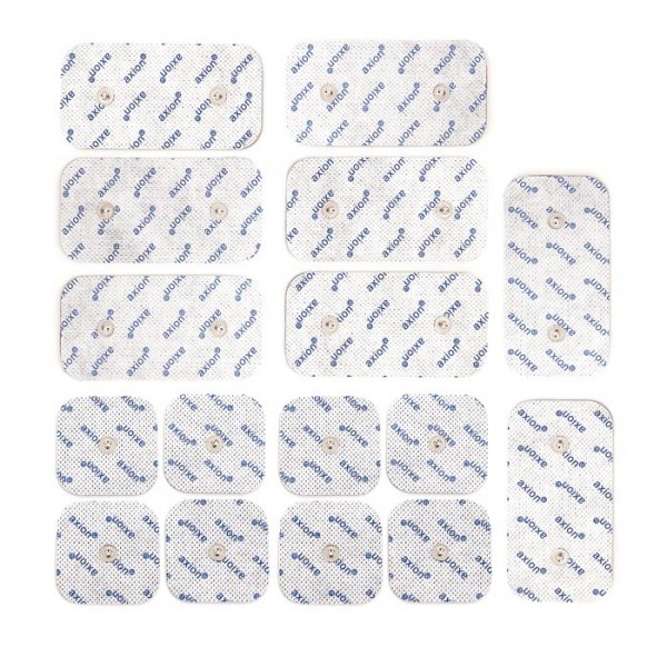 Mixed set TENS/EMS electrodes 5x5 cm & 10x5 cm - pack of 16