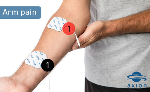 TENS-electrode-placement-against-arm-pain
