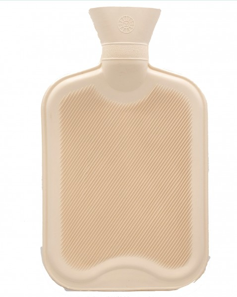 Hot water bottle without cover - beige - 33x20 cm