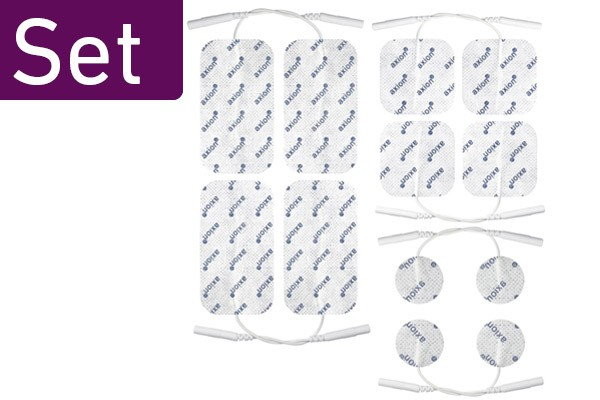 Electrode Pads, Small to LARGE Mixed Set of 12
